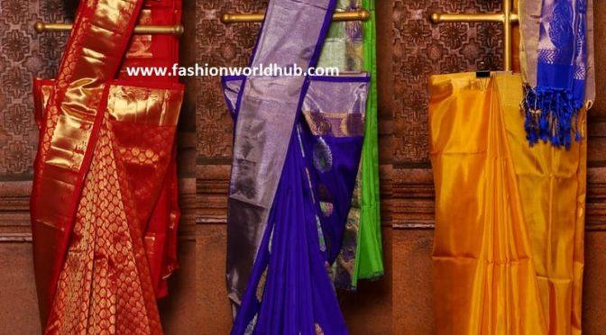 Kanchipuram pattu sarees from Mugdha art studio!