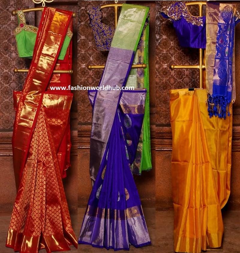 kanchipuram pattu sarees from mugdha art studio