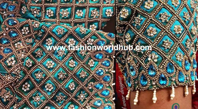 zardosi work blouse