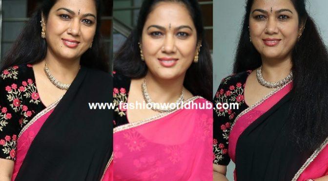 Actress Hema in black half saree!