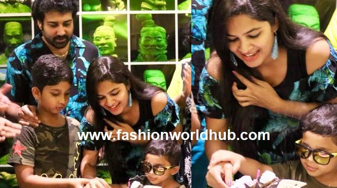 Actor Siva Balaji wife Madhumitha Birthday celebration photos!