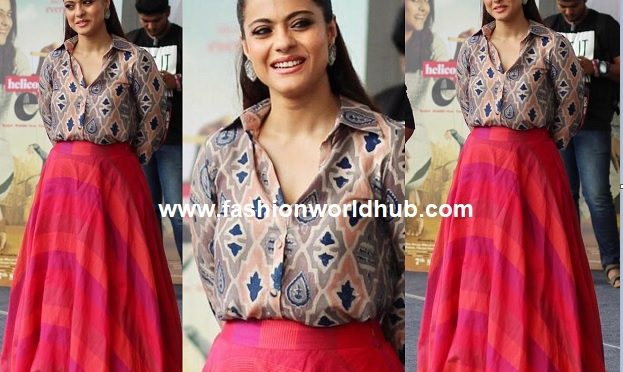 Kajol in Anushree For Helicopter Eela Promotions