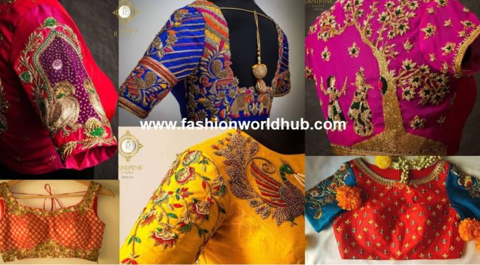 Beautiful Maggam Work Blouse Designs by Ranipink Studio!