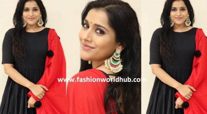 Rashmi gautham in black Anarkali
