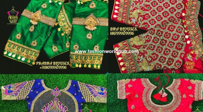 Mind Blowing Maggam work blouses by PRABHA BLOUSES
