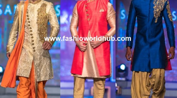 Bridal men's Outfits by santhosh kumar design studio at Madras Bridal Fashion Show 2018!