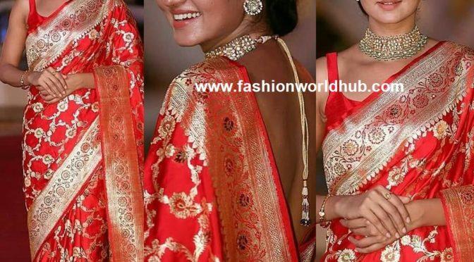 Shanvi Srivastava in Red banaras saree!