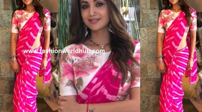 Shilpa Shetty in Devnaagri Saree