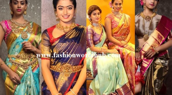 Mind blowing Kanchi pattu saree collections by Mugha Art studio!