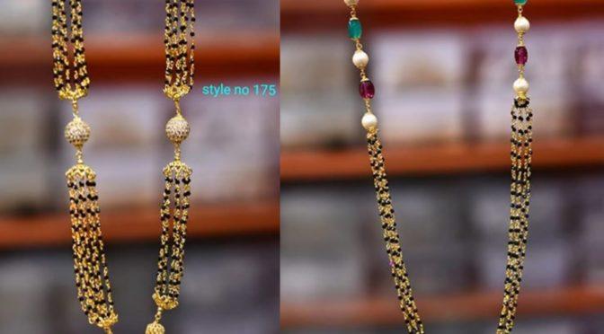 One Gram gold Black beads designs!