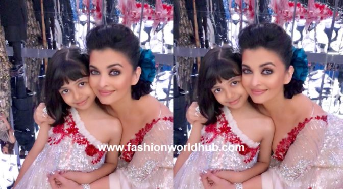 Aishwarya and Aaradhya in matching dresses