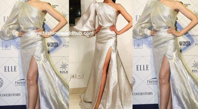 Deepika padukone in Gauri and nainika at Elle Beauty Awards 2018
