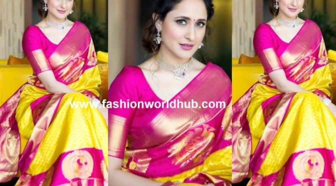 Pragya Jaiswal in JC Brother's Silk Saree