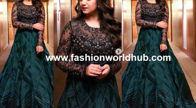 Keerthy Suresh in Jade couture at Sandakozhi 2 audio launch