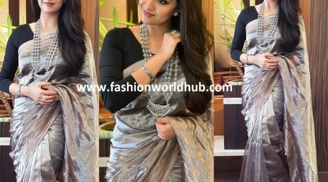 Keerthy Suresh in The Deccan Story saree