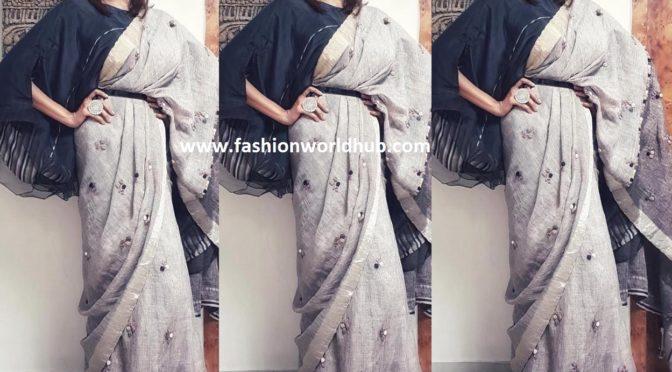 Lakshmi Manchu in Soutache by Gaurika Sharma