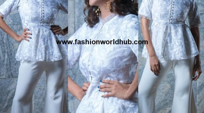 Lakshmi Manchu in Trisara By Tarushree & Sheeba