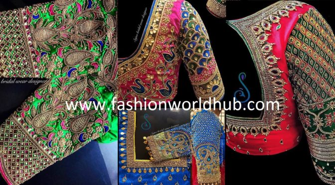 Mind blowing Maggam work blouse designs by Sajna bridal wear designer!