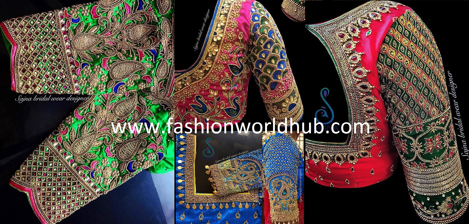 Mind Blowing Maggam Work Blouse Designs By Sajna Bridal Wear Designer Fashionworldhub,Gorgeous Lehenga Blouse Designs 2020 For Girl