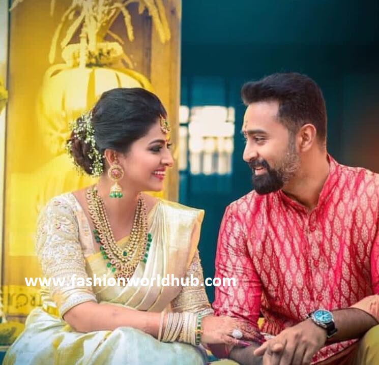Celebrity designer saree blouse