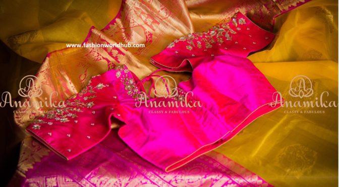 Kanchi Organza saree with designer blouse.