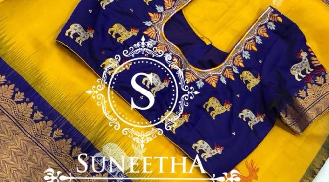 Maggam work blouses by Suneetha designer boutique!