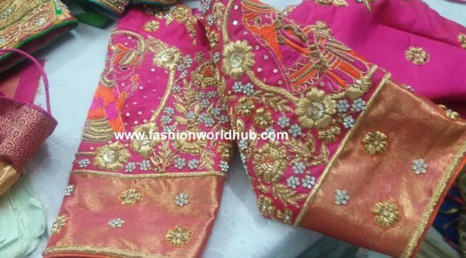 Bridal maggam work blouse designs!