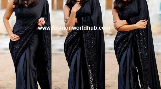 Anasuya Bharadwaj in black saree!