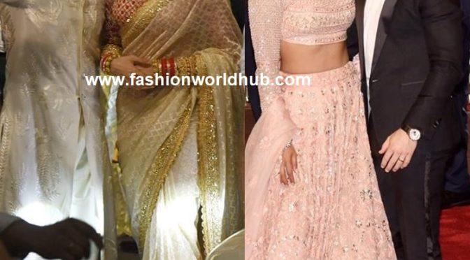 Newly wed couple Deepika and Ranveer  & Nick and priyanka at Isha Ambani and Anand Piramal wedding!