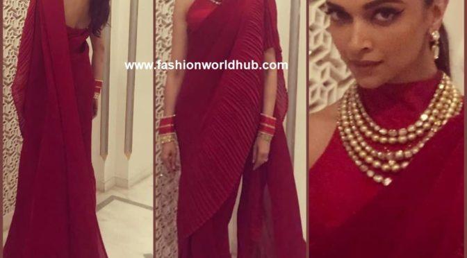 Deepika Padukone in Faabiiana at Isha Ambani's Pre-Wedding Celebrations