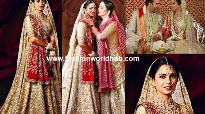 Isha Ambani wedding lehenga by Abu Jani Sandeep Khosla lehenga!