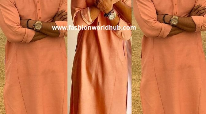 Ramcharan in Peach kurta paijama!