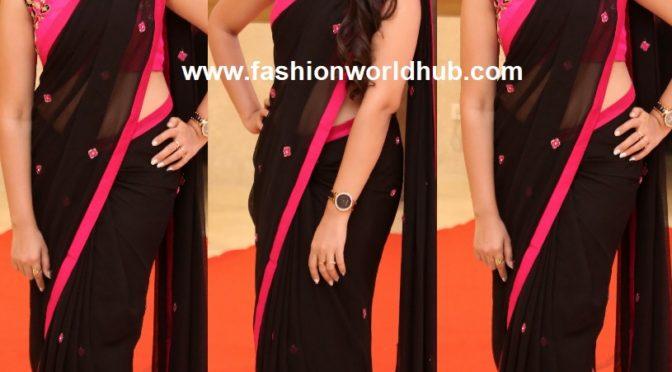 Anchor Shyamala in Black saree!