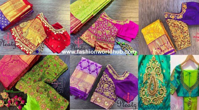 Maggam work blouse designs by Pleatz