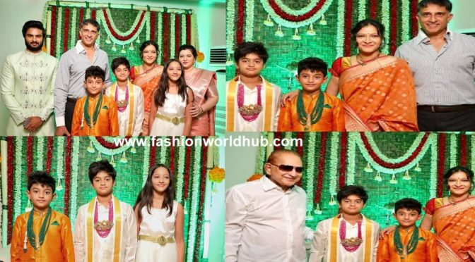 Sudheer Babu Son's Dhothi Ceremony function photos!