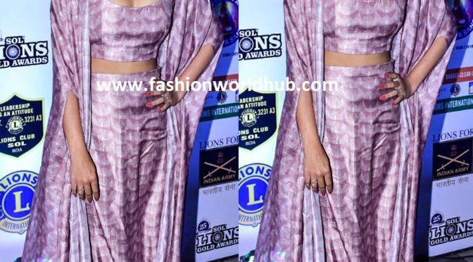 Jennifer Winget at the Lions Gold Awards 2019
