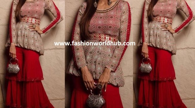 Shilpa Shetty in Sharara suit by Radhima Bhasin Couture