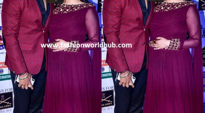 Sreesanth and Bhuvneshwari at the Lions Gold Awards 2019