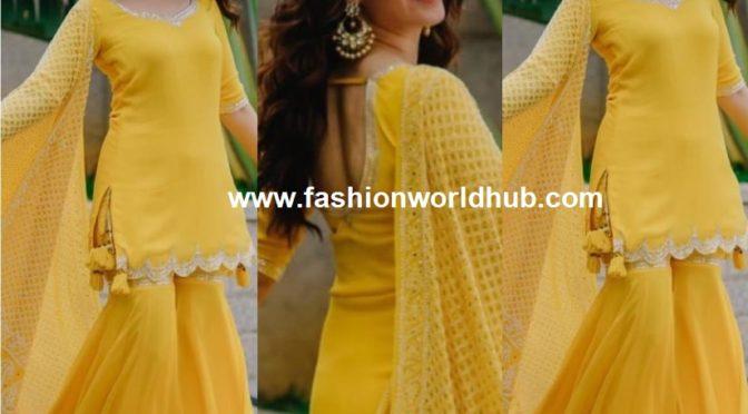 Tamannaah Bhatia in Yellow Sharara Suit