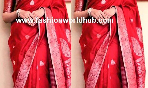 Tamannaah in Red saree by Ekaya.