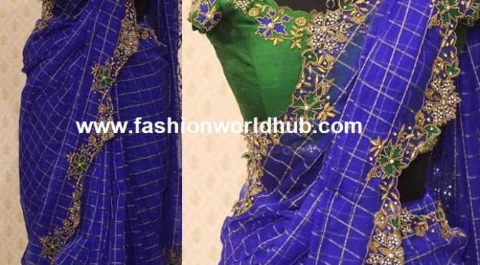 Designer saree with designer blouse!