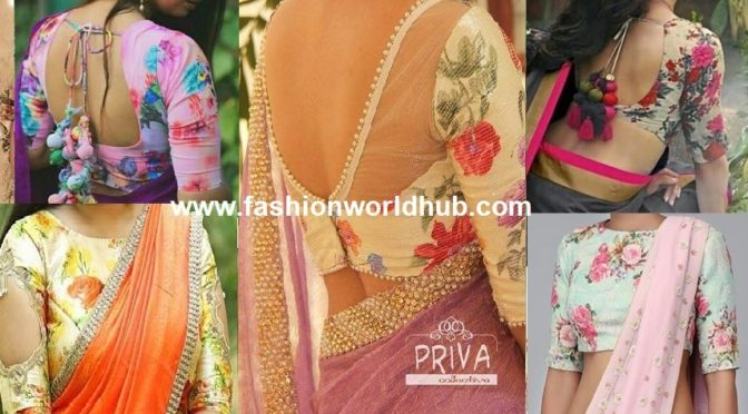 Floral printed blouses an Ultimate choices on sarees!