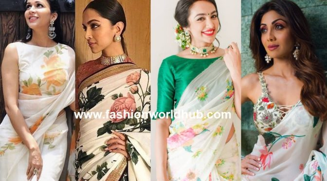 The age-old floral printed sarees, stealing the ramp again…
