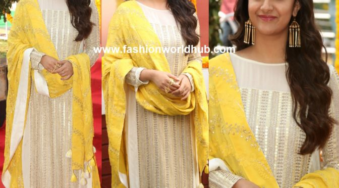 Keerthy Suresh in a Palazzo suit