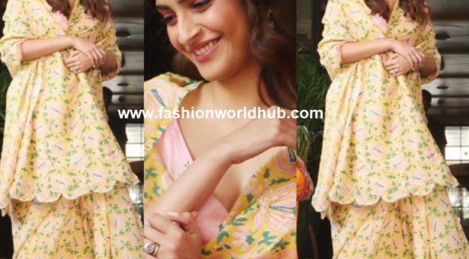 Sonam Kapoor in Floral printed saree by The Jodi Life Saree