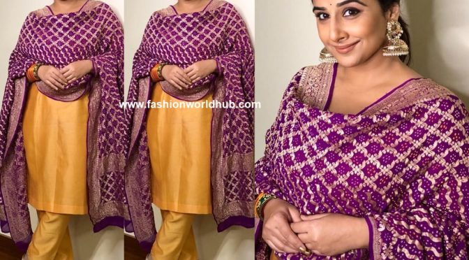 Vidya balan in The heritage weavers!