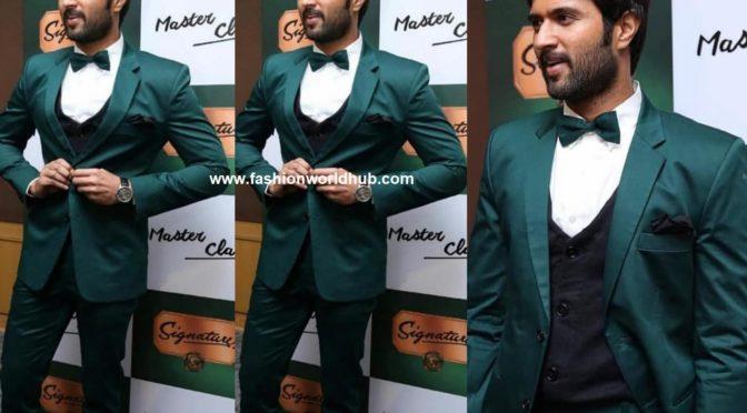 Vijay devarakonda in Tuxedo suit by Varun chakkilam!