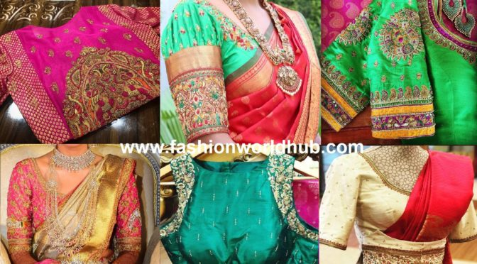 Mind blowing Pattu Saree Blouse Designs By Prathiksha!