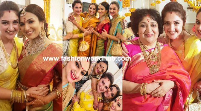 Celebrities at soundarya Rajinikanth pre wedding function!