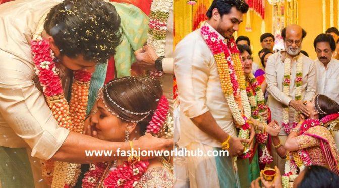 Few more wedding pics of Soundarya Rajinikanth and Vishagan Vanangamudi